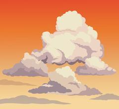 Beautiful sky sunset clouds Stock Illustration