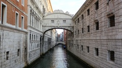 Bridge of Sighs in Venice, Italy. Stock Footage