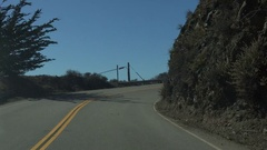 4K UHD cruising curves on PCH Hwy 1 N time lapse Stock Footage