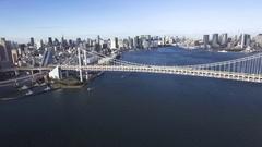 Tokyo Bay Aerial Tokyo Tower Sky Tree Background  Stock Footage
