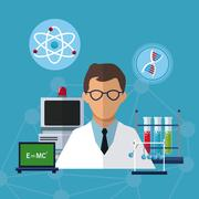 Medical scientist experiment laboratory solution Piirros