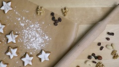 Christmas cookies in star shape cooking process Stock Footage
