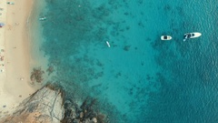Aerial view of clear sea water at phuket island southern thailand Stock Footage