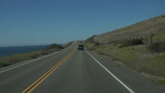 4K UHD cruising curves on PCH Hwy5 N time lapse Stock Footage