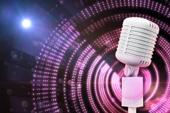 Composite image of digitally generated retro white microphone Stock Illustration