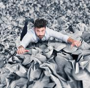 Trapped by bureaucracy Stock Photos