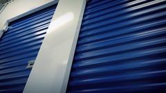 Passing Storage Lockers Stock Footage