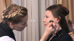 Face pre-treatment before makeup Stock Footage