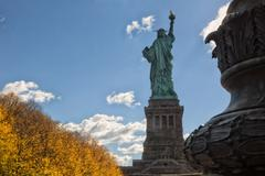 Back of the Statue of Liberty Stock Photos
