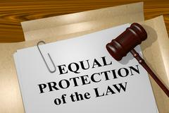 Equal Protection of the Law - legal concept Stock Illustration