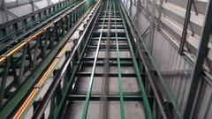 Conveyor belt transporting Stock Footage