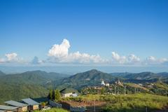 Khao Kho mountain view and Wat Pha Sorn Kaew, Thailand Stock Photos