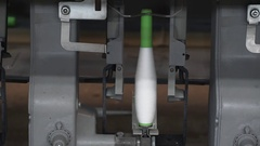 Spinning factory. The production of fabrics, silk, linen, synthetics, thread. Stock Footage