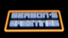 Season's Greetings Letters Appearing Stock Footage