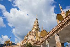 Gold pagoda in Wat Phra That Pha Son Kaew Temple, Thailand Stock Photos