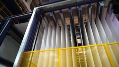 The production of tent material-PVC. Automated production in Europe. Stock Footage