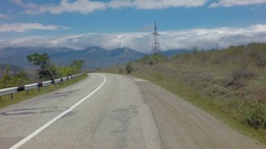 Autotravel Summer south of Crimea. Beautiful serpentine mountain roads stock Stock Footage
