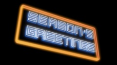 Season's Greetings Floating Stock Footage