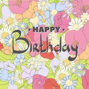 Background of different colors to decorate birthday Stock Illustration