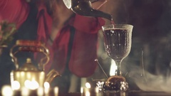 Barman making a cocktail Stock Footage