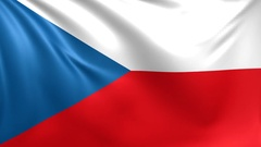 Flag of Czech Republic. Seamless looped video, footage Stock Footage