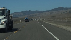 Tunring off PCH Hwy 1 to view Pacific ocean Stock Footage