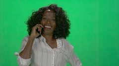 Woman of African decent using tablet computer to communicate Stock Footage