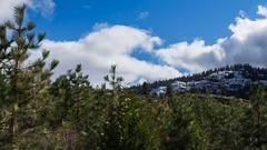 HD 24p Sierra Mountains Peak snow clouds time lapse tight 2 Stock Footage