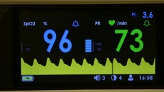 Pulse oximeter working on Stock Footage