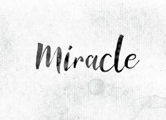 Miracle Concept Painted in Ink Stock Illustration