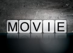 Movie Tiled Letters Concept and Theme Piirros