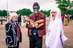 Cosplayers at the Yorkshire Cosplay Convention Stock Photos