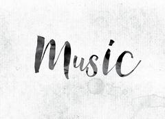 Music Concept Painted in Ink Stock Illustration