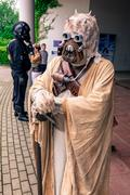 Cosplayer dressed as a 'sand person' from 'Star Wars' Stock Photos