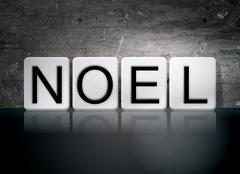 Noel Tiled Letters Concept and Theme Stock Illustration