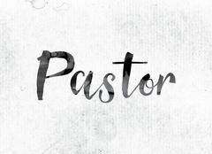 Pastor Concept Painted in Ink Stock Illustration