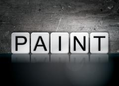 Paint Tiled Letters Concept and Theme Stock Illustration