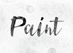 Paint Concept Painted in Ink Stock Illustration
