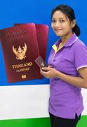 Successful applicant for a passport from Thai authorities Stock Photos