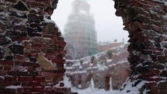 Ruins of Vyborg Stock Footage