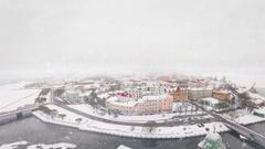 Vyborg winter panorama Stock Footage