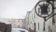 Vyborg Castle inside Stock Footage