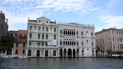 Ca' D'oro in Venice across Grand Canal. Stock Footage