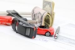 Auto market stress or business pressure Stock Photos
