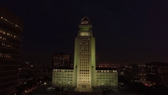 City Hall DTLA Aerials Stock Footage