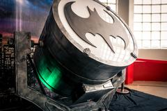 Replica of 'Bat-Signal' device at Yorkshire Cosplay Convention Stock Photos
