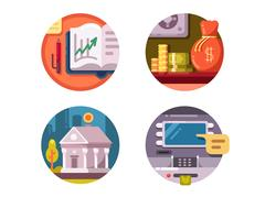 Financial institution money Stock Illustration