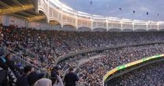 Baseball Game at Yankee Stadium, The Bronx Stock Footage