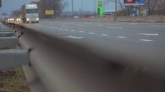Interstate Highway Semi Truck Stock Footage