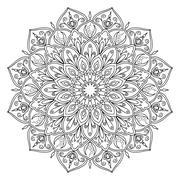 Decorative indian ornament mandala isolated on white background. Stock Illustration